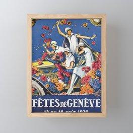 ancienne affiche geneve fetes de geneve 1976 1930 Framed Mini Art Print