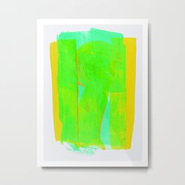 Color Variations in Green 01 Metal Print