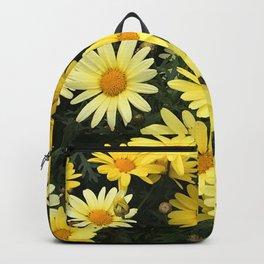 Yellow Happy Daisies Art Photo  Backpack