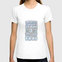 Diemond Rings on Light Pink T-shirt