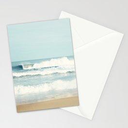 Ocean Photography, Calming Sea Photo, Blue Waves Seascape Photograph, Beach Print Stationery Cards