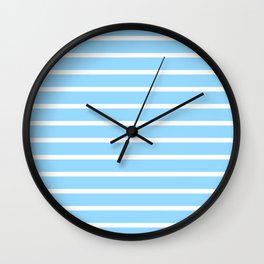 stripe one  bleu ciel color Wall Clock