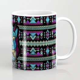 Aboriginal Aztec Inca Mayan Mask Mozaic Glass Coffee Mug