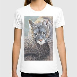 Just Chillin - Cougar Painting by Alan M Hunt T-shirt
