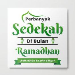 Ramadhan sedekah Metal Print