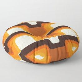 Mid-Century Modern Meets 1970s Orange Floor Pillow