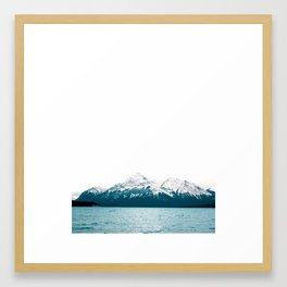 Abraham Lake, Alberta (Lake Level) Framed Art Print