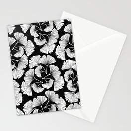 White ginkgo leaves  Stationery Cards