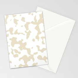 Large Spots - White and Pearl Brown Stationery Cards