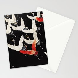 Flying Japanese Cranes Stationery Cards