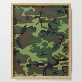 Camouflage - camo green Serving Tray