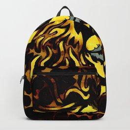 Golden Graffiti Lion Backpack