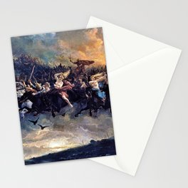 Peter Nicolai Arbo - The Wild Hunt of Odin - Digital Remastered Edition Stationery Cards