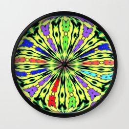 Clothes Peg Kaleidoscope  Wall Clock