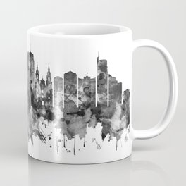 Minsk Belarus Skyline BW Coffee Mug
