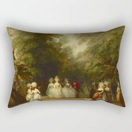 "Thomas Gainsborough ""The Mall in St. James's Park"" Rectangular Pillow"