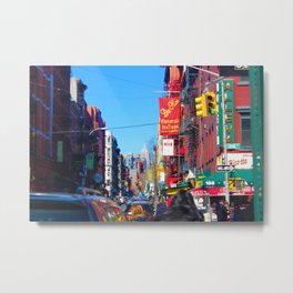 NYC Little Italy Street Metal Print