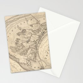 Vintage Map of Provincetown (1836) Stationery Cards
