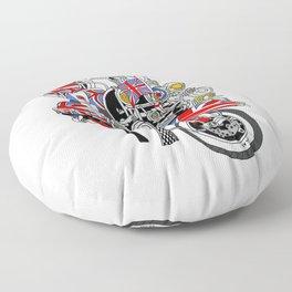 Union Jack Mods Bike Floor Pillow