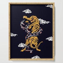 Tiger vs Snake Serving Tray