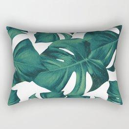 Monstera Leaves Pattern #3 #tropical #decor #art #society6 Rectangular Pillow