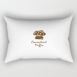 Connecticut Muffin Rectangular Pillow