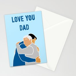 Love You Dad (pale blue) Stationery Cards