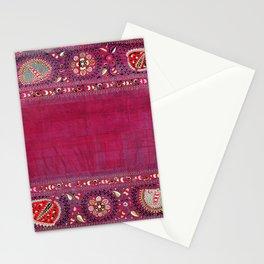 Shakhrisyabz  Southwest Uzbekistan Suzani Embroidery Print Stationery Cards
