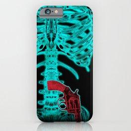 Human Xray with Gun iPhone Case