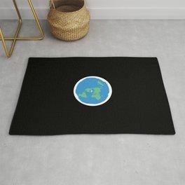 Flat Earth Ice Wall. - Gift Rug