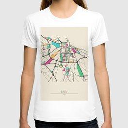 Colorful City Maps: Bari, Italy T-shirt