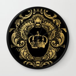 Gold Crown Wall Clock