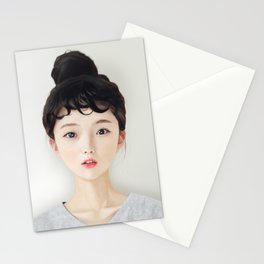 Portrait: Korean Girl Stationery Cards