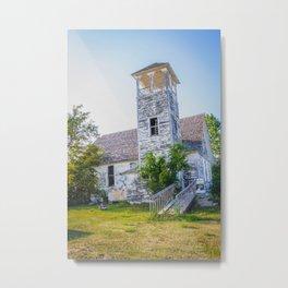 Old Church, Douglas, North Dakota Metal Print