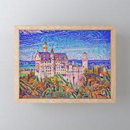 Neuschwanstein Gingerbread and Candy Framed Mini Art Print