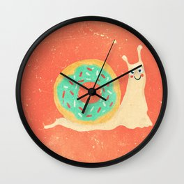 Donut snail Wall Clock