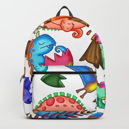 Volcanic Vibrant Dinosaur Jungle Monster Pattern Backpack