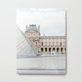 The Louvre, Paris, France | Fine Art Travel Photography  Metal Print