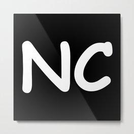 StateMeant USA North Carolina NC Metal Print