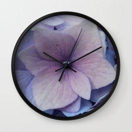 Purple Hydrangea Bush Wall Clock