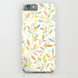 Leafy Sprigs | Blue & Orange iPhone Case
