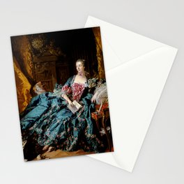 "François Boucher ""Marquise of Pompadour commonly known as Madame de Pompadour"" Stationery Cards"