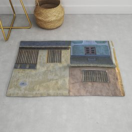 LANDSCAPE PHOTOGRAPHY OF WHITE CONCRETE HOUSE Rug