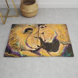 Long Lasting Lion Love Rug