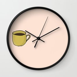Yellow coffee mug Wall Clock