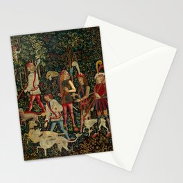 The Hunters Enter the Woods (from the Unicorn Tapestries) 1495–1505 Stationery Cards