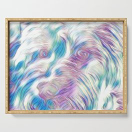 Pastel Penny the Yorkipoo art Serving Tray
