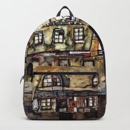 Egon Schiele - House Wall on the River - Digital Remastered Edition Backpack