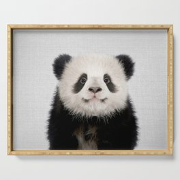 Panda Bear - Colorful Serving Tray