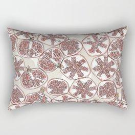 watercolor pomegranates Rectangular Pillow